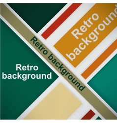 Retro background vector image