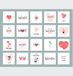 Romantic collection cards vector