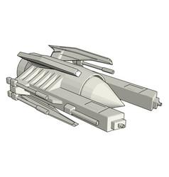 sci-fi galaxy battle cruiser on white background vector image