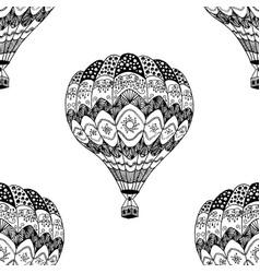 Seamless pattern of hot air balloon vector