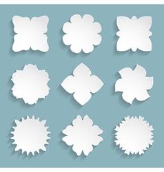 set of 9 white frames vector image