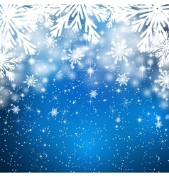 Snowflakes background with falling snow vector