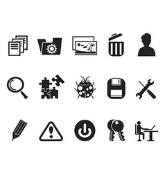 Software and IT program Developers icon set vector