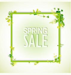 Spring sale watercolor banner vector