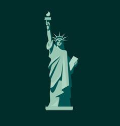 statue liberty design vector image