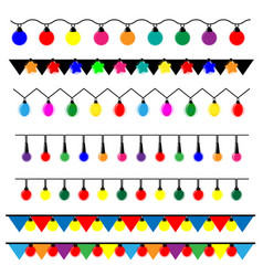 String of christmas lights vector