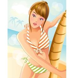 summer sexy bikini girl vector image