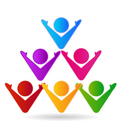 Team of people in a pyramid icon vector