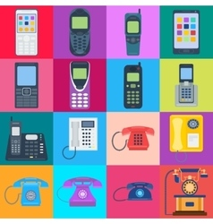 Telephones icons vector image