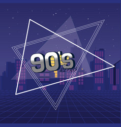 the 90s forever concept vector image