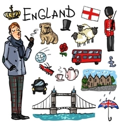 Travelling attractions - England vector