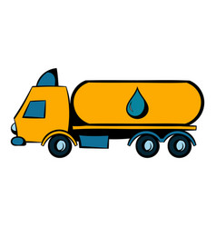 Truck with fuel tank icon icon cartoon vector