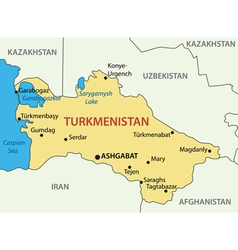 Turkmenistan - map vector image
