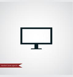 Tv icon simple vector
