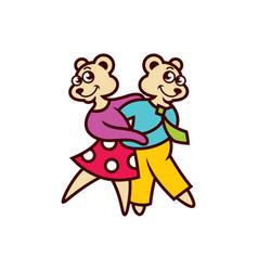 Two bears dancing vector