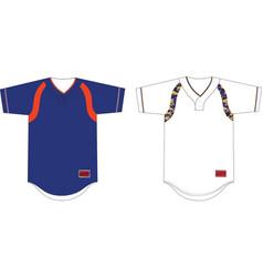 Two button baseball jersey raglan sleeves vector