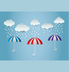 Umbrella rain ideas design vector