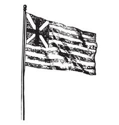 Union flag vintage vector