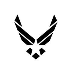usa us air force logo sign symbol vector image