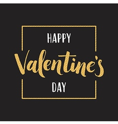 Valentines day lettering for greeting card holiday vector image