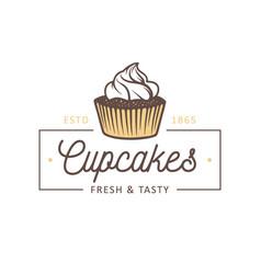 Vintage style bakery shop simple label badge vector