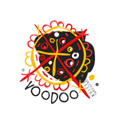 Voodoo african and american magic logo with circle vector
