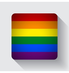 Web button with rainbow flag vector