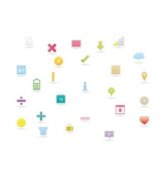 Web icons 10 vector