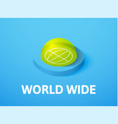 World wide isometric icon isolated on color vector