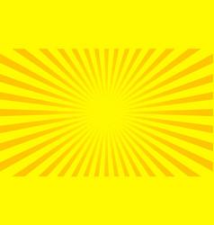 Yellow sunbeams sun ray background pop art vector