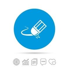 Eraser icon Erase pencil line symbol vector image vector image