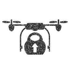 Load Cargo Drone Grainy Texture Icon vector image vector image