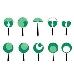 set of tree vector image