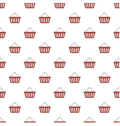 shopping basket pattern vector image vector image