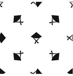 vietnamese hat pattern seamless black vector image vector image