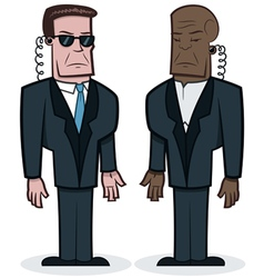 Bodyguards vector image