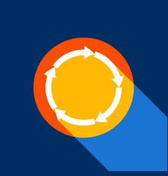 circular arrows sign white icon on vector image