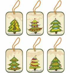 Fir tree tags vector image vector image