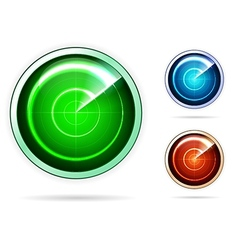 icons for colored radar vector image