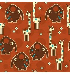 safari seamless pattern vector image