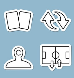 soccer line icon set vector image