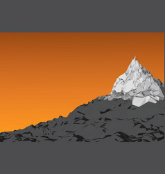 background sky with mountains vector image