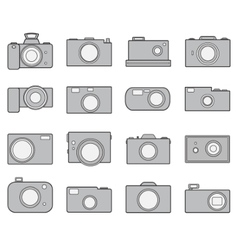 Camera icons set vector image vector image