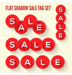 Modern flat sale tags set vector image vector image