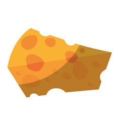 Piece of cheese icon vector