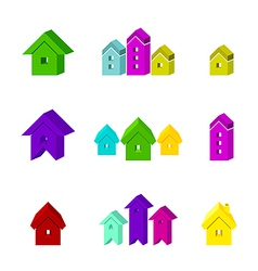 set of house icon for advertising real estate vector image