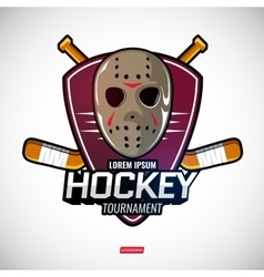 Sports logos for hockey vector image vector image