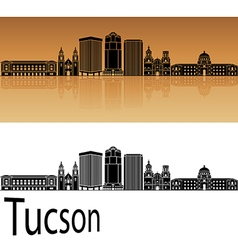 Tucson V2 skyline in orange vector image vector image