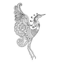 Fantasy bird vector image