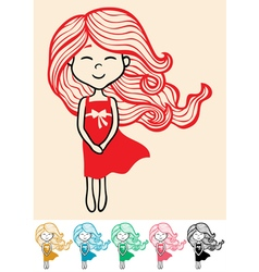 Little Girl 2 vector image vector image